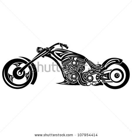 Tribal Motorcycle Stock Photos, Royalty.