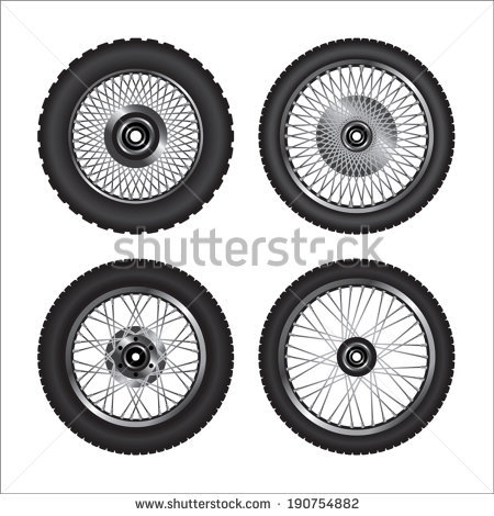 Motorcycle Wheel Stock Photos, Royalty.
