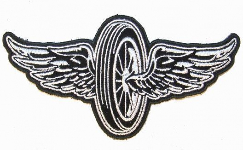 motorcycle bike wheel wings patch p7430 new jacket patches biker.