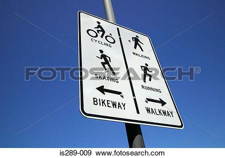 Stock Photograph of Bikeway and walkway is289.