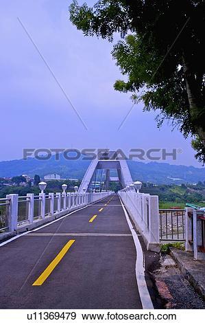 Stock Photograph of Taiwan, Taichung, Dongfong Bikeway, Dongfeng.