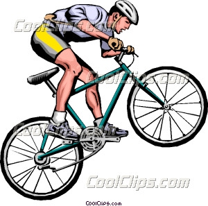 Mountain biking clipart.