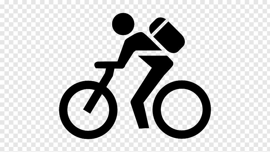 Person with backpack riding bike, Bicycle Cycling Mountain.