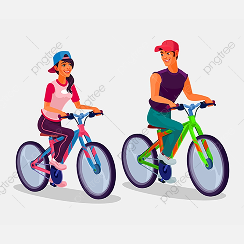 Young Boy And Girl Riding Bicycles, Bike, Bicycle, Biking PNG and.