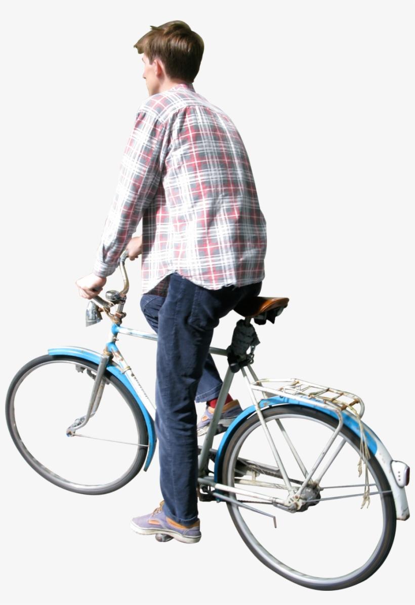 Man Biking.