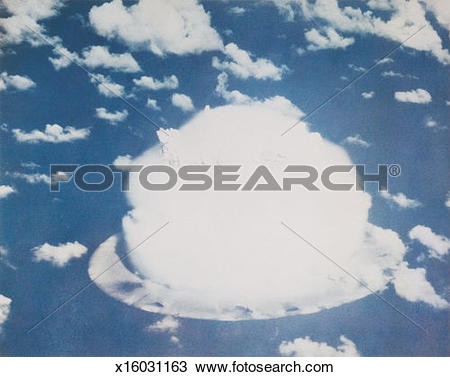 Stock Photo of Nuclear Bomb Test, Bikini atoll, July 26 1946.