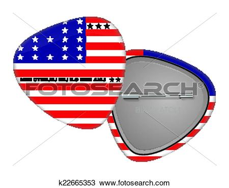 Clipart of Bikini Atoll Flag Badge k22665353.