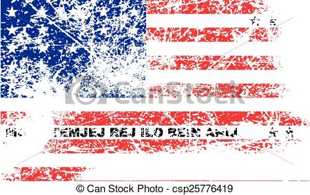 Vector Clip Art of Flag of Bikini Atoll with old texture. Vector.