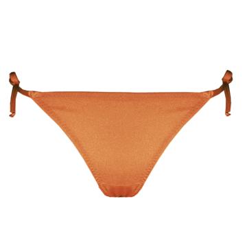 Mira bronze bikini strap bottom.