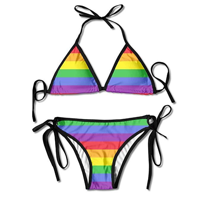 Amazon.com: Pattern Rainbow Clip Art Women's Sexy Bikini Set.