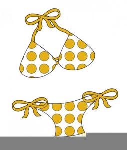 Polka Dot Bikini Clipart.