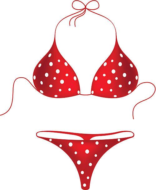 Best Sexy Red Bikini Illustrations, Royalty.
