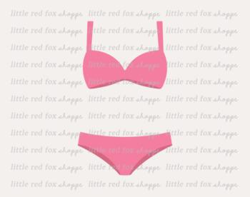 Bikini Clipart; Swimsuit, Swim Suit, Beach, Ocean, Pool Party, Vacation.