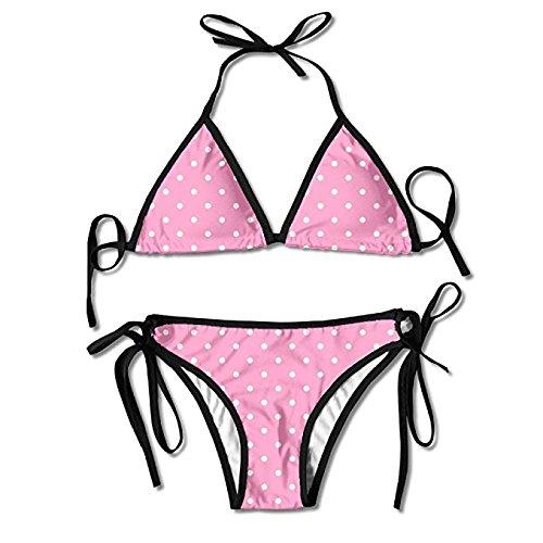 Amazon.com: Faverling Fashion Womens Dots Clipart Pink Sexy Padded.