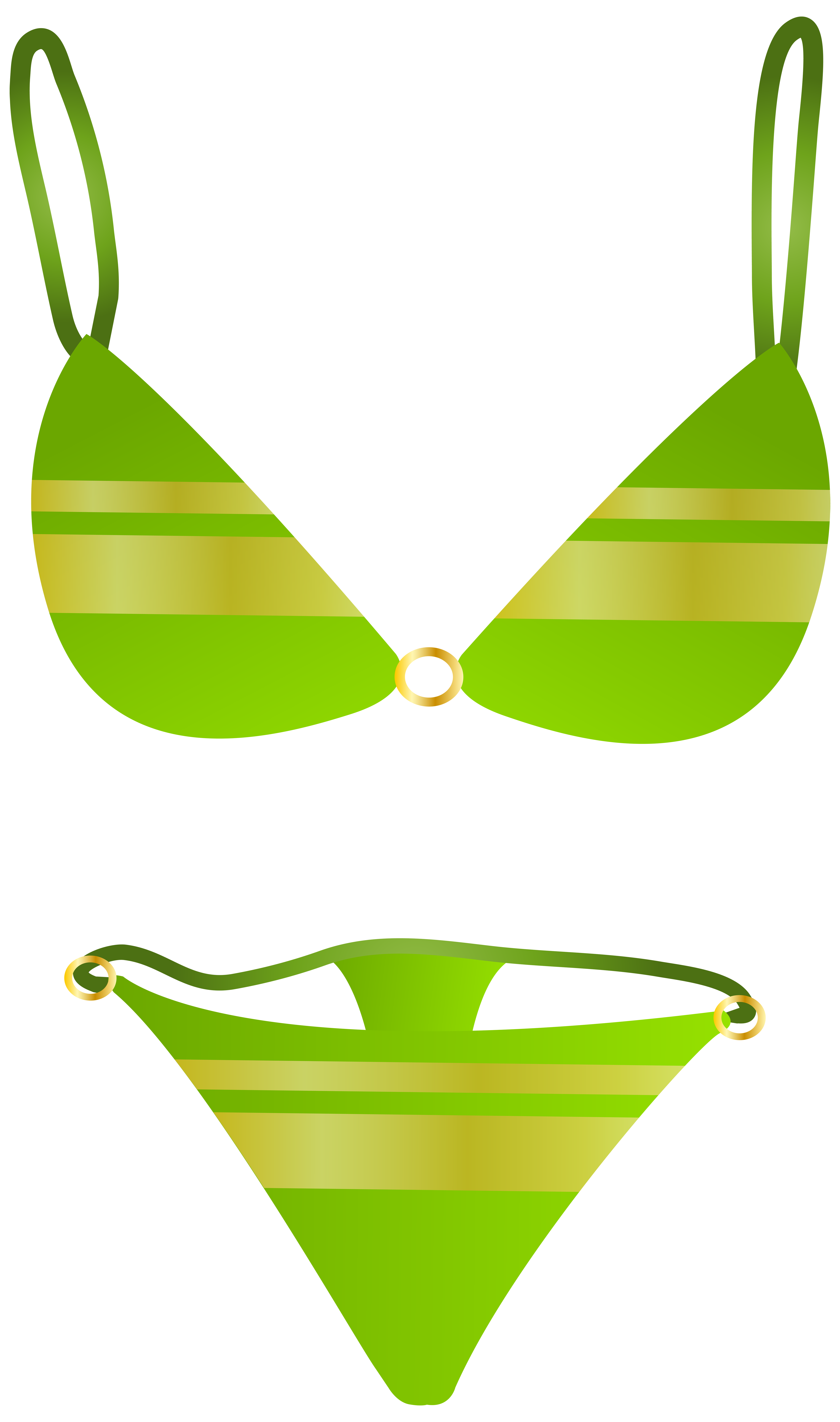 Green Swimsuit PNG Clip Art.
