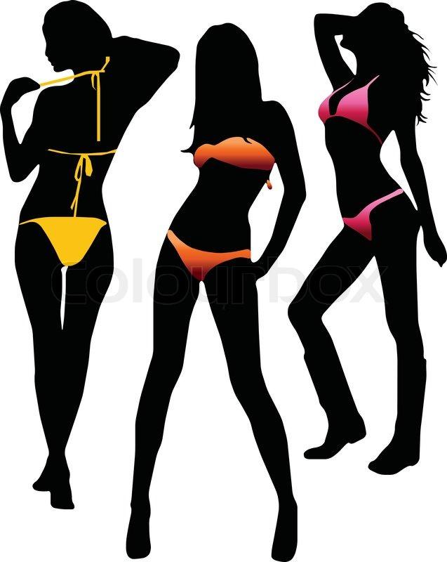 Bikini girls silhouette.