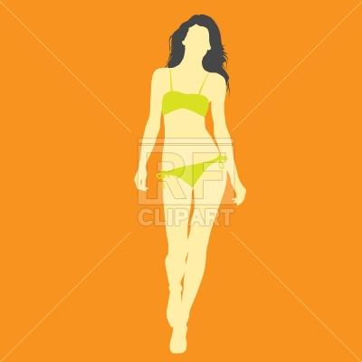 Slender model in bikini Vector Image #640.