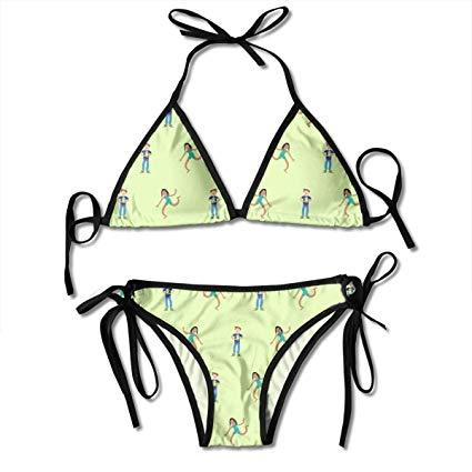 Amazon.com: NHJM Clipart Child Pattern Women\'s Bikini Set.