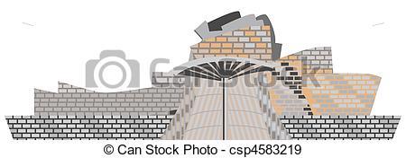 Stock Illustration of Guggenheim Museum Bilbao csp4583219.