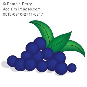 Clip Art Illustration of Blueberries.