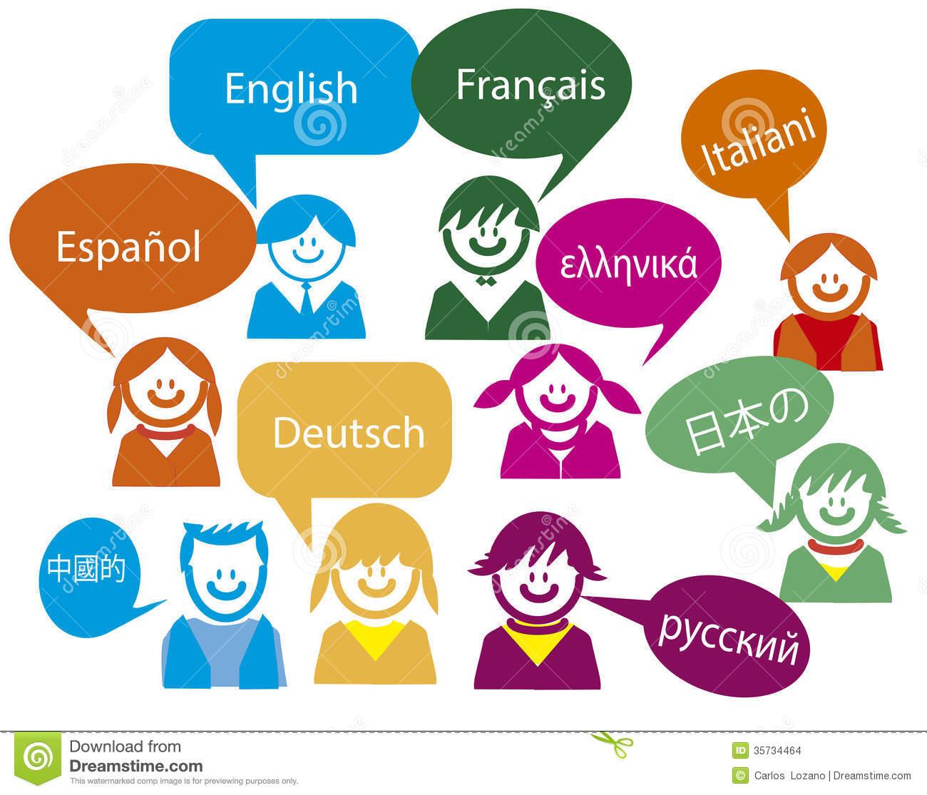 Bilingual Stock Illustrations.
