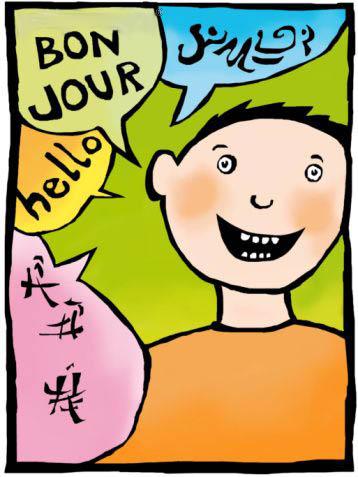 Clipart bilingual.