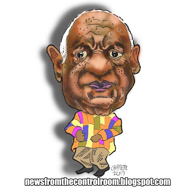 news from the control room: caricature Bill Cosby.