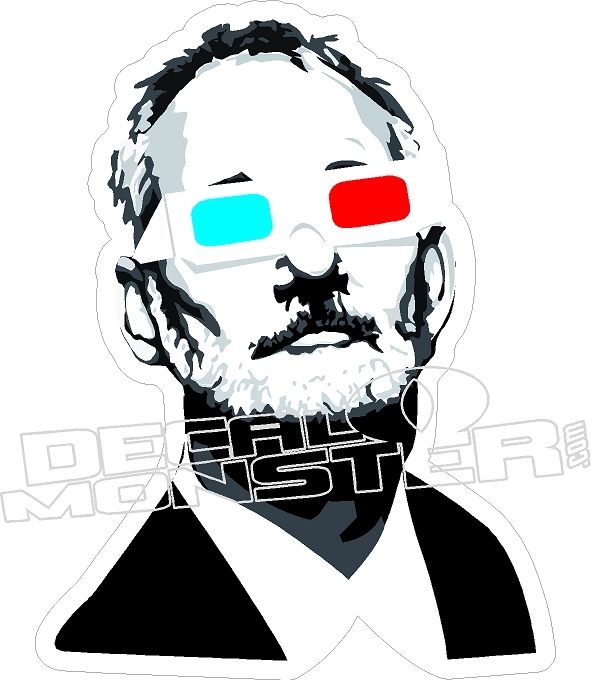 Bill Murray Chive 3D Glasses Decal Sticker.
