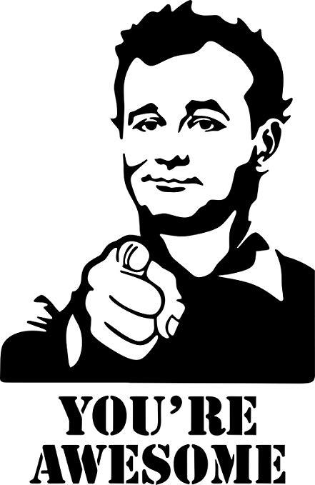 Amazon.com: ShopForAllYou Stickers & Decals (White) Bill Murray You.