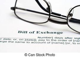 Stock Photo of Bill of exchange csp6886584.