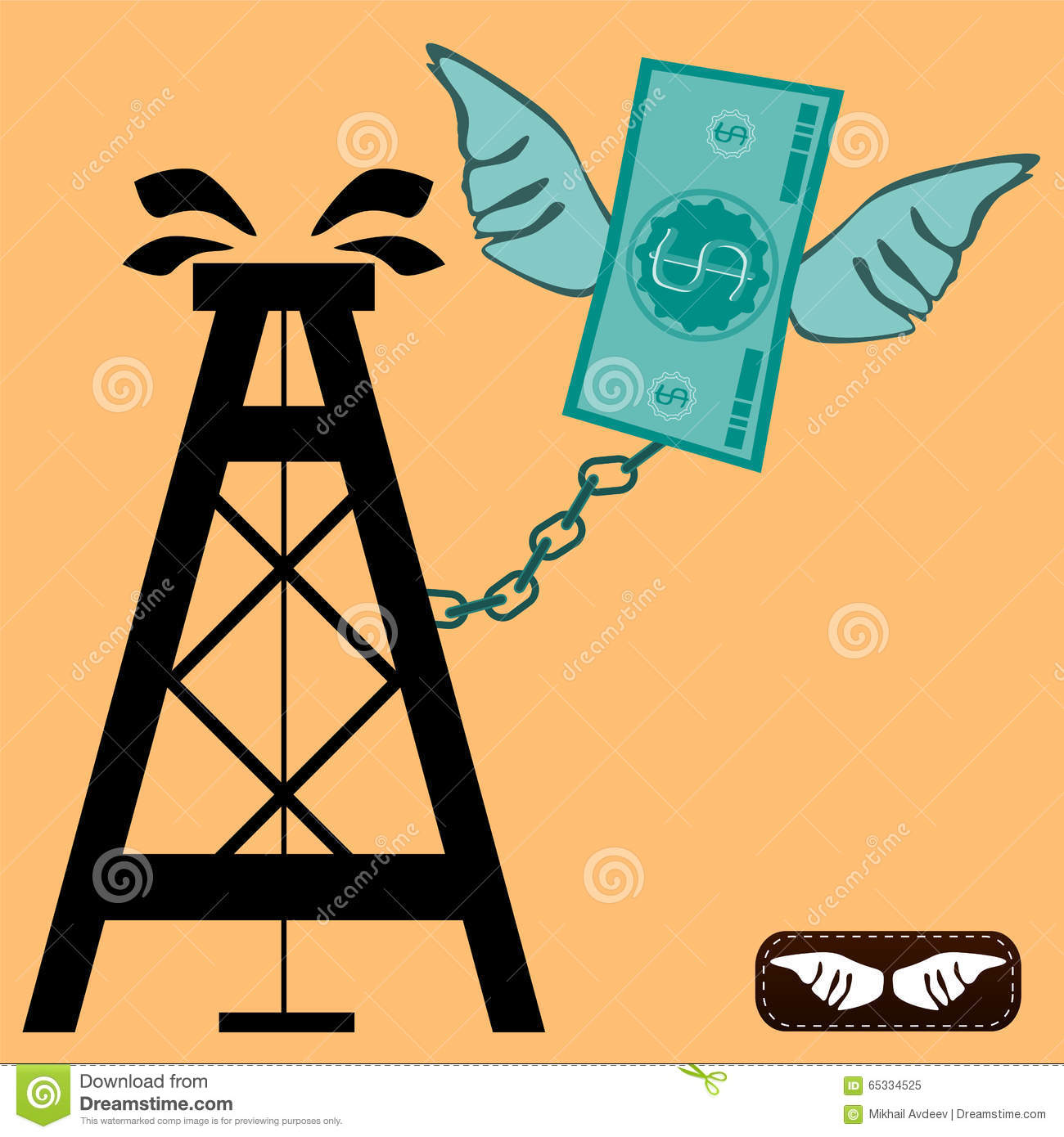 Dollar Bill Wings Stock Illustrations.