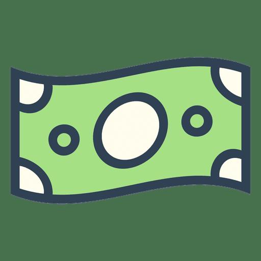 Stroke dollar bill.