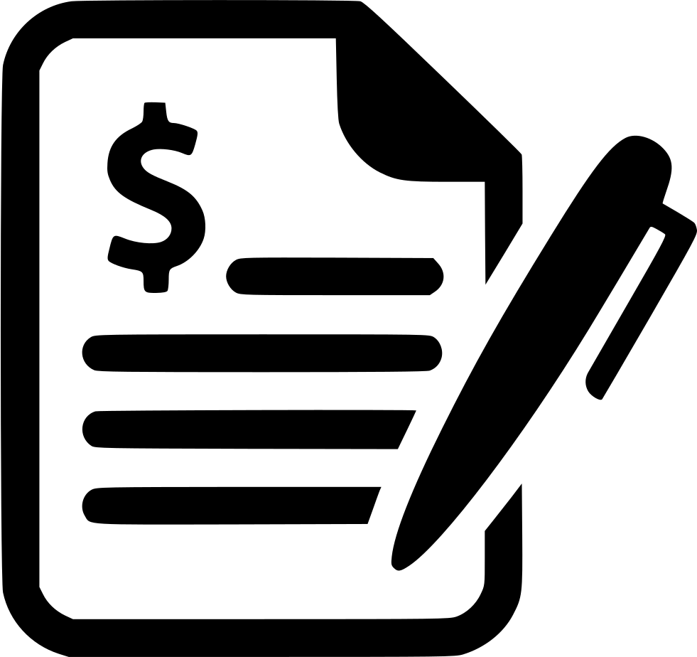Contract Agreement Deal Business Signature Bill Svg Png Icon Free.