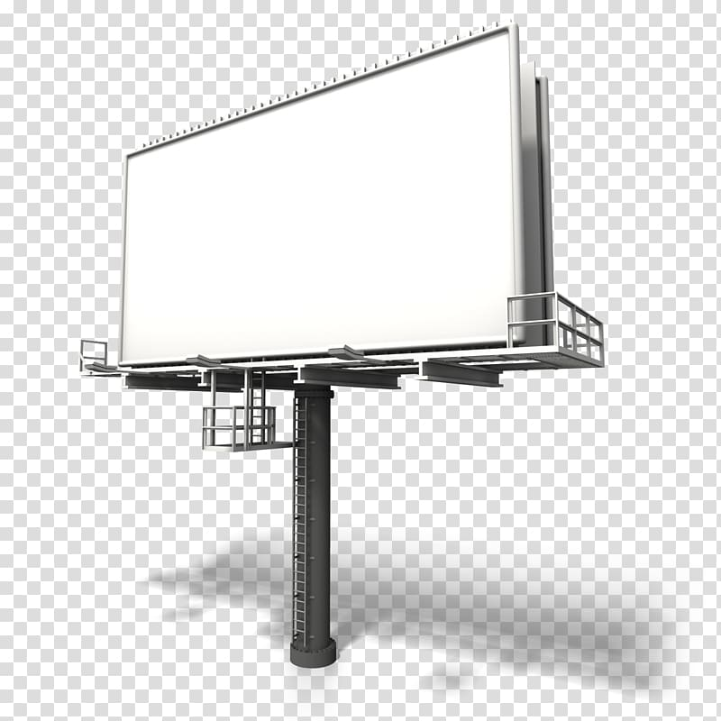 White and gray billboard model, Billboard Advertising.