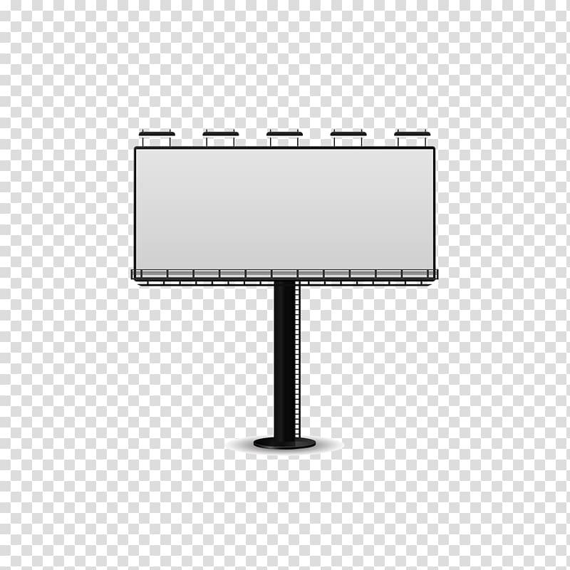 White and black billboard , Cartoon Advertising, billboard.