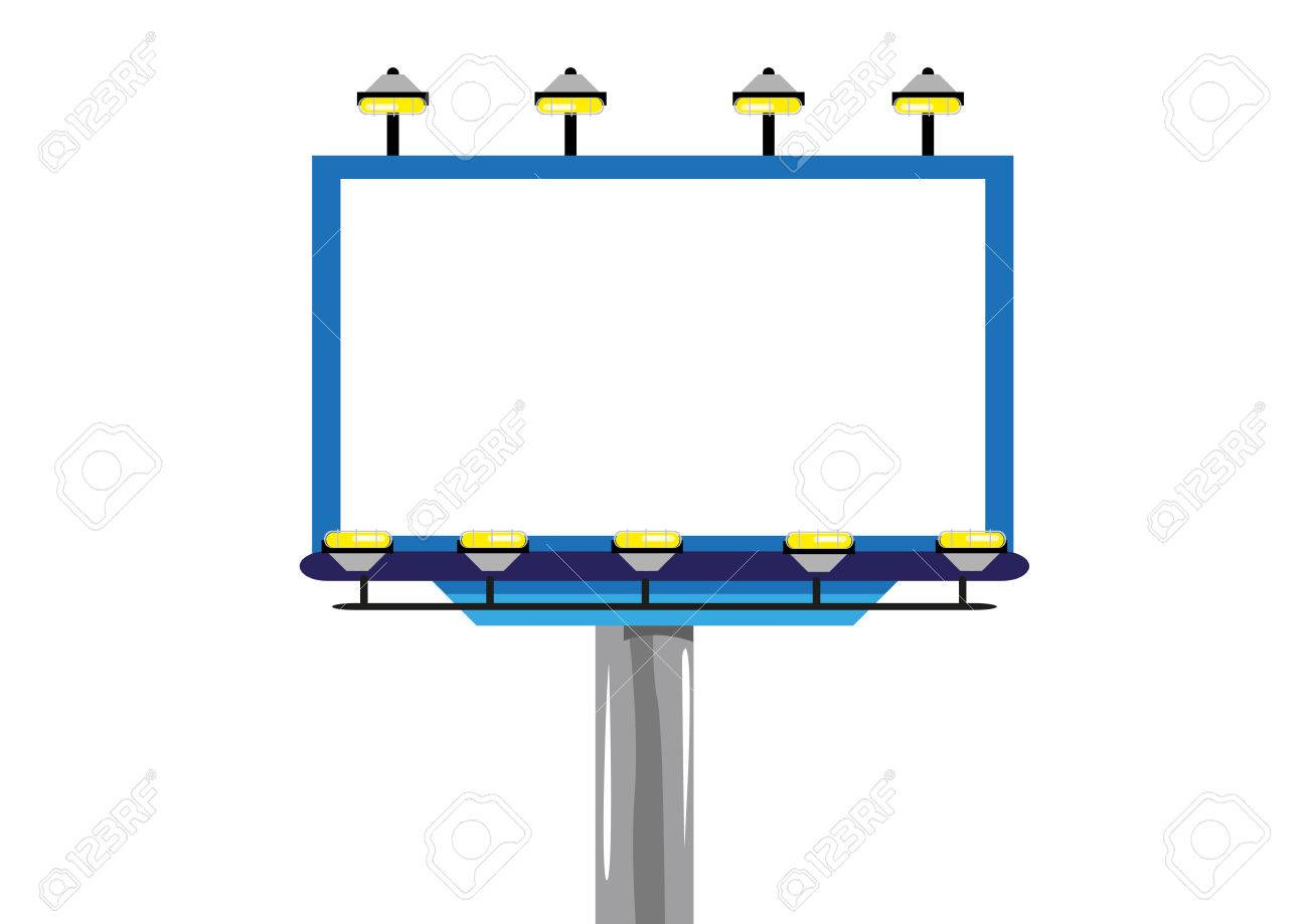 Billboard for Ads and promotion frame template Isolated. Editable...