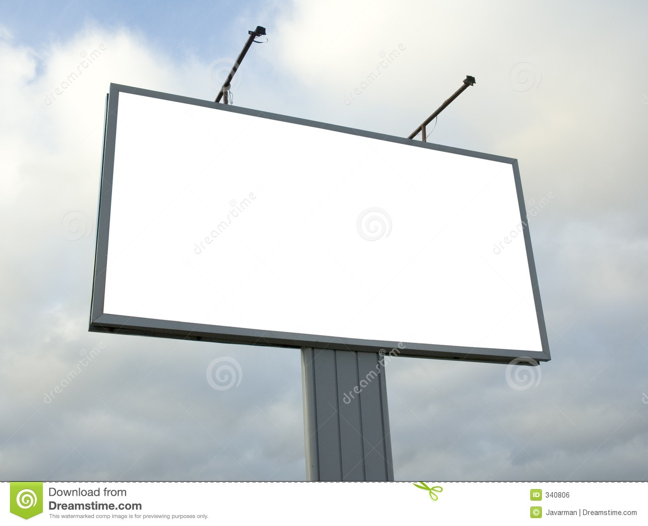 Blank billboard stock photo. Image of lamps, display, announcement.