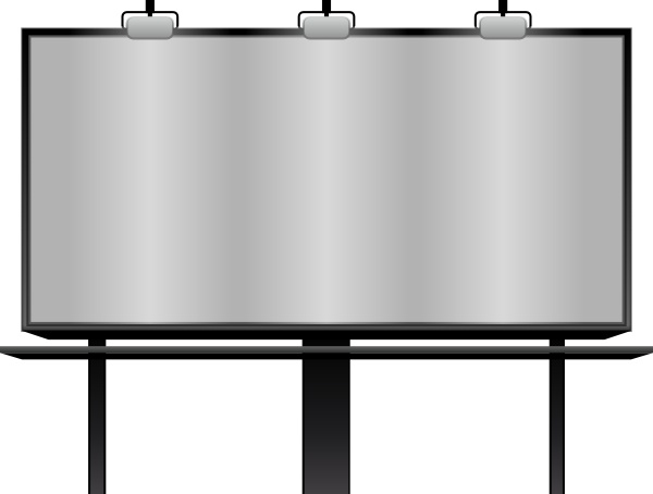 Blank Billboard clip art Free vector in Open office drawing.
