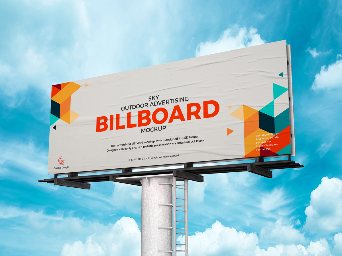 Free Advertising PSD Billboard Mockup by Graphic Google on Dribbble.