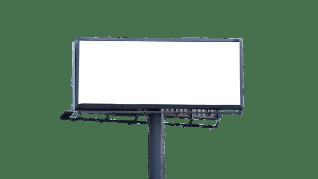 Empty Roadside Billboard transparent PNG.