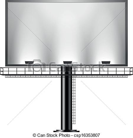 Vector Clipart of Billboard.