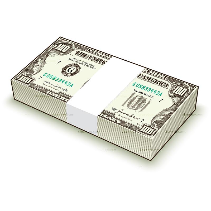CLIPART HUNDED DOLLAR BILL.