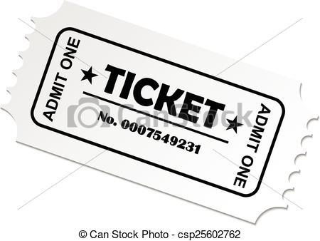 Clip Art Vecteur de billet, cinéma, concert, théâtre, vecteur, EPS.