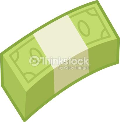 Wad Of Money Bills Vector Art.