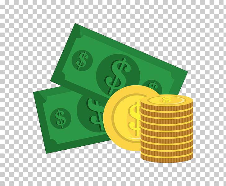 Moneda de dinero de billetes, oro de billetes PNG Clipart.