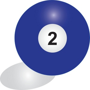 Free clipart of the billiard ball number 11.