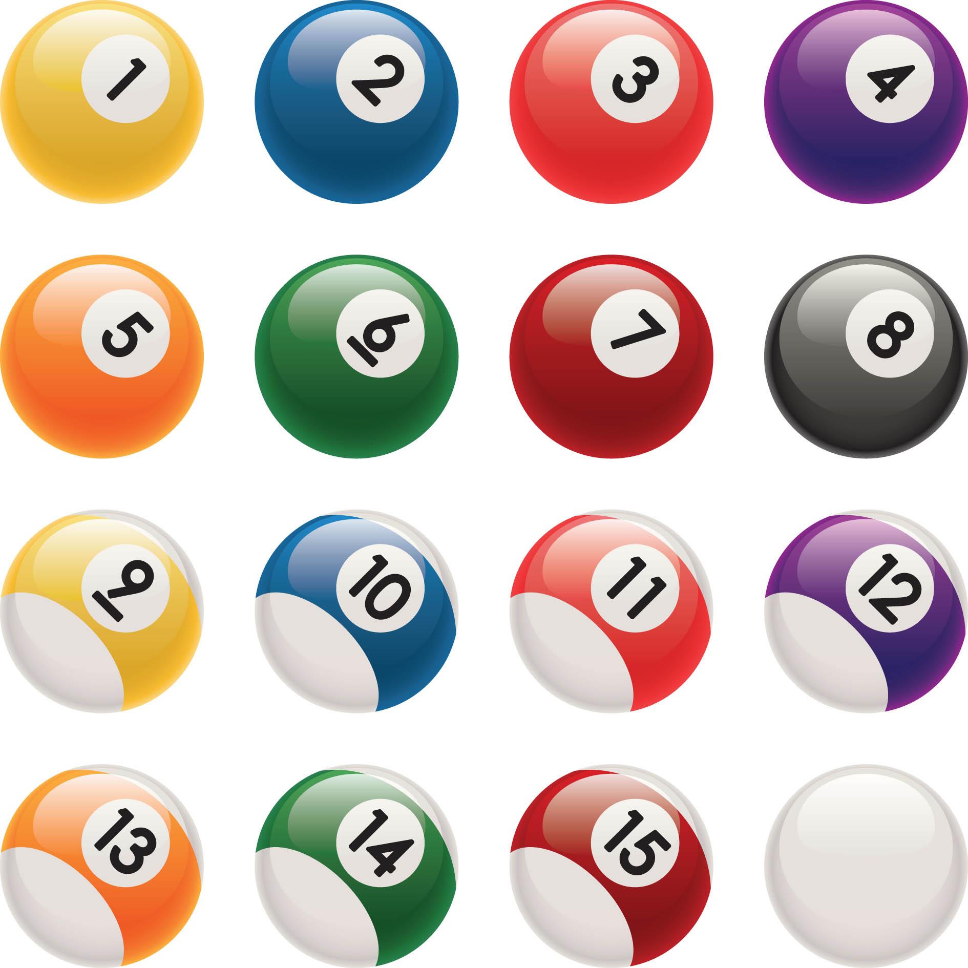 Billiard balls clipart.