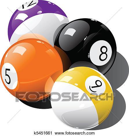Pool balls Clipart.