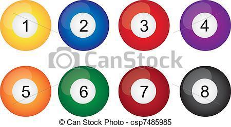 Billiard balls clipart 4 » Clipart Portal.
