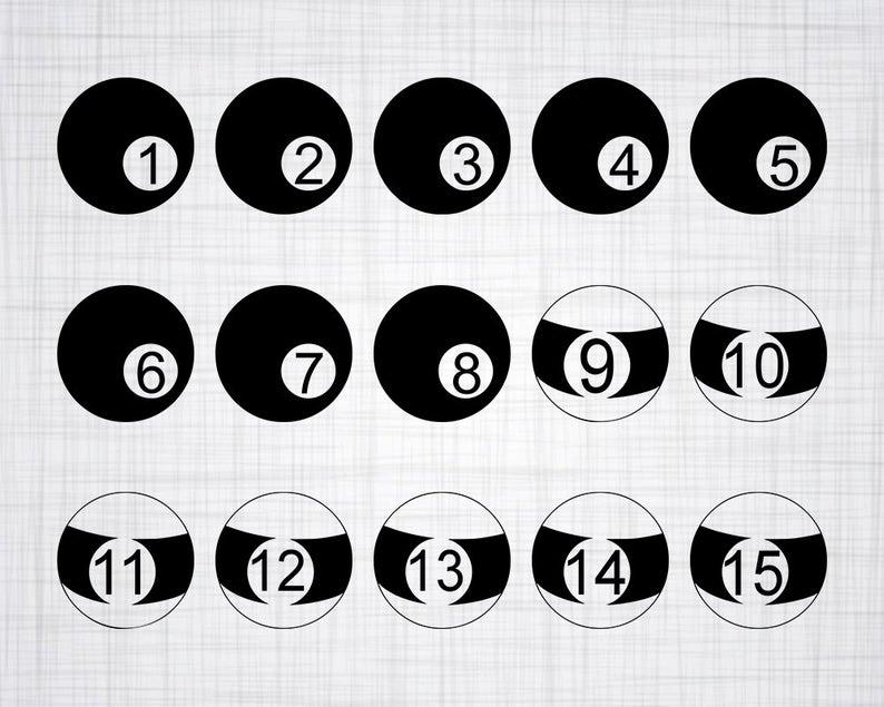 Billiard Ball SVG Bundle, Billiard Balls SVG, Billiard Ball Clipart, Cut  Files For Silhouette, Files for Cricut, Vector, Svg, Dxf, Png.